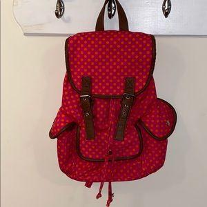 pink n orange backpack